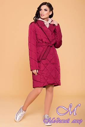 Женское стеганное пальто осень весна (р. S, M, L) арт. Сандра 4440 - 21278, фото 2