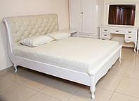 Деревяне ліжко Амальтея з каретною стяжкою