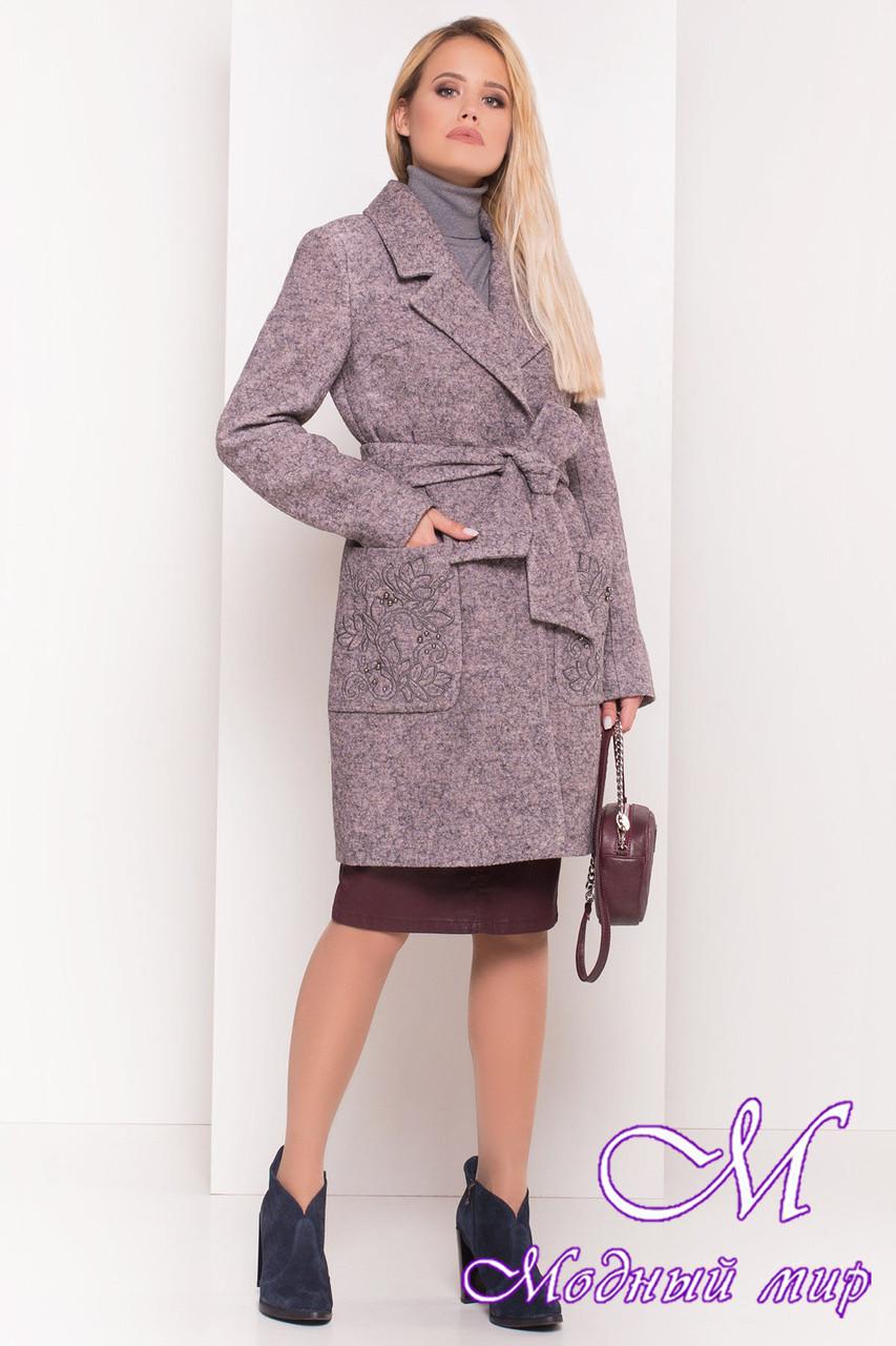 Женское демисезонное пальто шерсть (р. S, M, L) арт. Милена 5273 - 37589