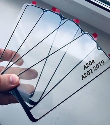 Стекло дисплея для Samsung A202 A20e  черное, фото 2