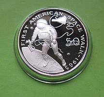 Маршалловы о-ва 50 долларов 1989 г. Космос. Первый выход в открытый космос астронавта США в 1965 год