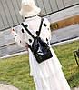 Плотный матовый силиконовый рюкзак для модных девушек, фото 4