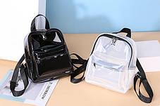 Плотный матовый силиконовый рюкзак для модных девушек, фото 2