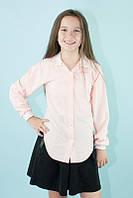 Блузка школьная с гипюровыми вставками (разные цвета)