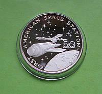 Маршалловы о-ва 50 долларов 1989 г. Космос. Первая американская космическая станция в 1973 году., фото 1