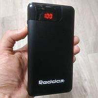 Power Bank Reddax RDX-220 12400 mAh черный внешний аккумулятор портативный павербанк, фото 1