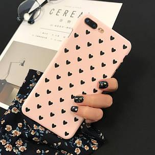 Чехол Case Cover Black Hearts для Apple IPhone 7 Plus/8Plus, фото 2
