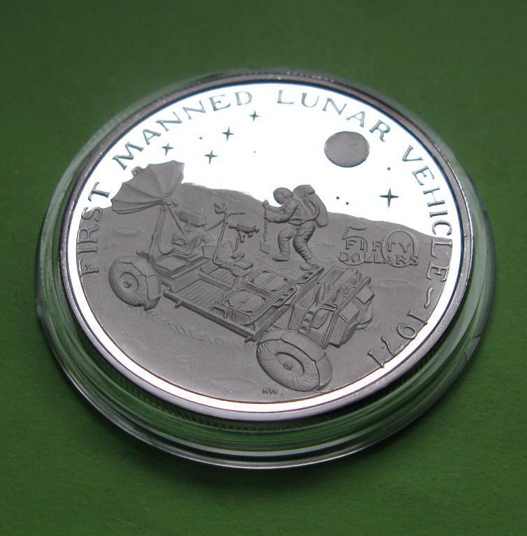 Маршалловы о-ва 50 долларов 1989 г. Космос. Запуск первого лунохода в 1971 году.