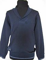 Пуловер синий для мальчиков 128 роста Школьный