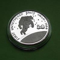 Маршалловы о-ва 50 долларов 1989 г. Космос. Первый неуправляемый выход человека в открытый космос, фото 1
