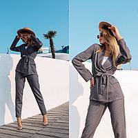 Трикотажный костюм в деловом стиле, фото 1