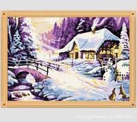 Набор алмазной вышивки Зима. Тепло дома