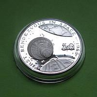Маршалловы о-ва 50 долларов 1989 г. Космос. Первая стыковка в Космосе 1965 г, фото 1