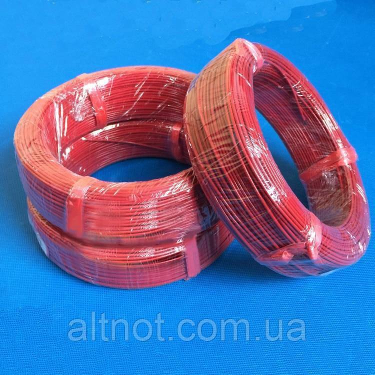 Карбоновый кабель для керамических обогревателей F6K, R-66 Ом/м.пог., D-2,0мм., Изоляция тефлон., фото 1