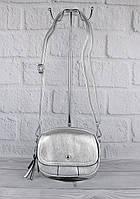 Клатч, сумочка через плечо Bl. Balli 1126-04 серебро, много отделов, фото 1