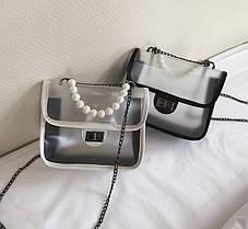 Элегантная прозрачная сумка с красивой ручкой для стильных девушек, фото 2