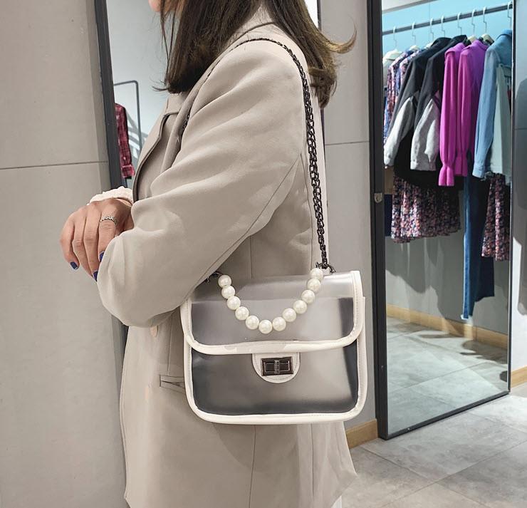 Элегантная прозрачная сумка с красивой ручкой для стильных девушек