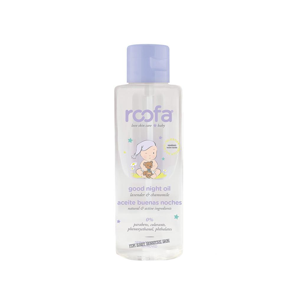 Вечірня масажна олія для тіла з лавандою і ромашкою ROOFA