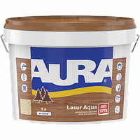 "Декоративно-защитное средство ТМ ""Aura"" Lasur Aqua (каштан) - 2,5 л."