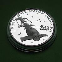 Маршалловы о-ва 50 долларов 1989 г. Космос. Первый переход космонавтов в орбитальную станцию в 1971, фото 1