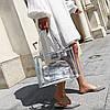 Большая прозрачная сумка с клатчем для модных девушек, фото 5