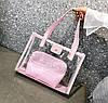Большая прозрачная сумка с клатчем для модных девушек, фото 6