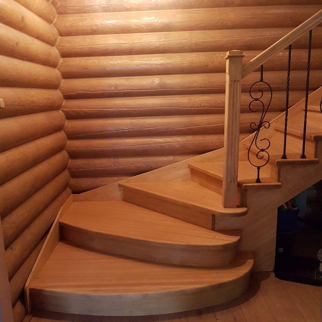 Ступени из массива Лиственницы для лестницы деревянной