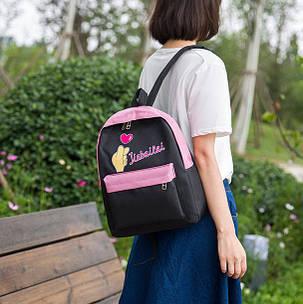 Стильный тканевый рюкзак для школы Jiabailai, фото 2