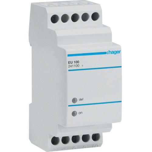 Реле контроля напряжения, 1-фазное, Hager EU100