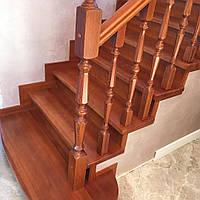 Ступени дерево Лиственница Сибирская, лестницы деревянные