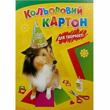 "Набор цветного картона ""Собака""  Лунапак"