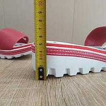 Распродажа! 37 размер Шлепанцы Nike розовые шлепки на танкетке на тракторной подошве тапки на каблуке, фото 2