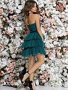 Платье с многоярусной юбкой из сетки и открытой спиной, 00048 (Зеленый), Размер 42 (S), фото 4