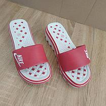 Розпродаж! 37 розмір Шльопанці Nike рожеві шльопанці на танкетці на тракторній підошві взуття на підборах, фото 3
