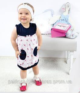 Летнее детское платье для новорожденных Весенняя радость р. 68-98 см (Nicol, Польша)