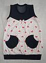 Летнее детское платье для новорожденных Весенняя радость р. 68-98 см (Nicol, Польша), фото 2