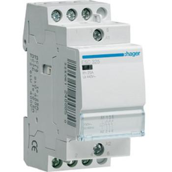 Контактор пускатель бесшумный Hager ESC425S, 25A, 230В, 4НО