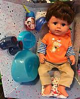 Кукла Baby Born Brother Старший Брат Беби Борн Yale baby BLB001D ноги на шарнирах, горшок, стоит, аналог