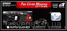 Хром-накладки на лючок бензобака Chevrolet Evanda 1999-2006 (Magnus)
