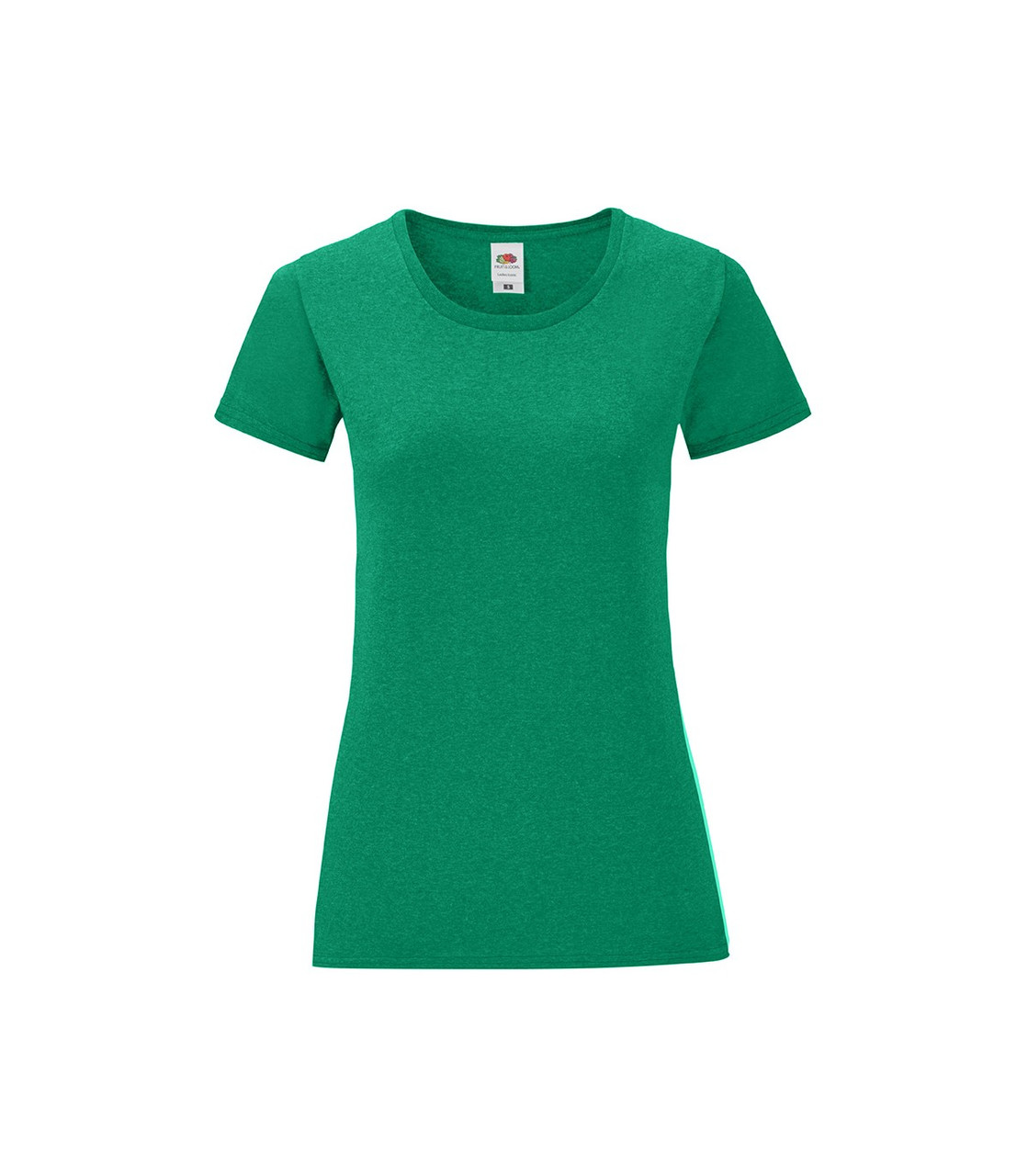 Женская футболка хлопок зеленая меланж 432-RX