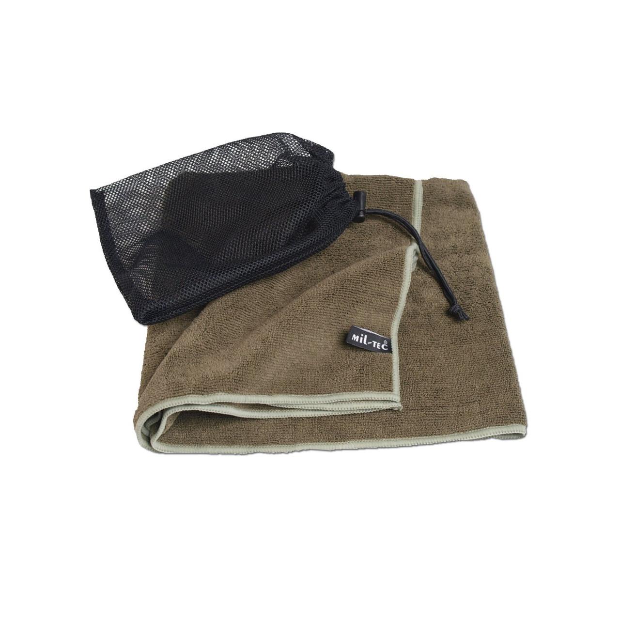 Дорожное полотенце из микрофибры 100х50 см MilTec Olive 16011101