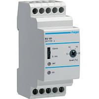 Реле контроля напряжения, 1-фазное, c регулировкой Umin и Umax, Hager EU101