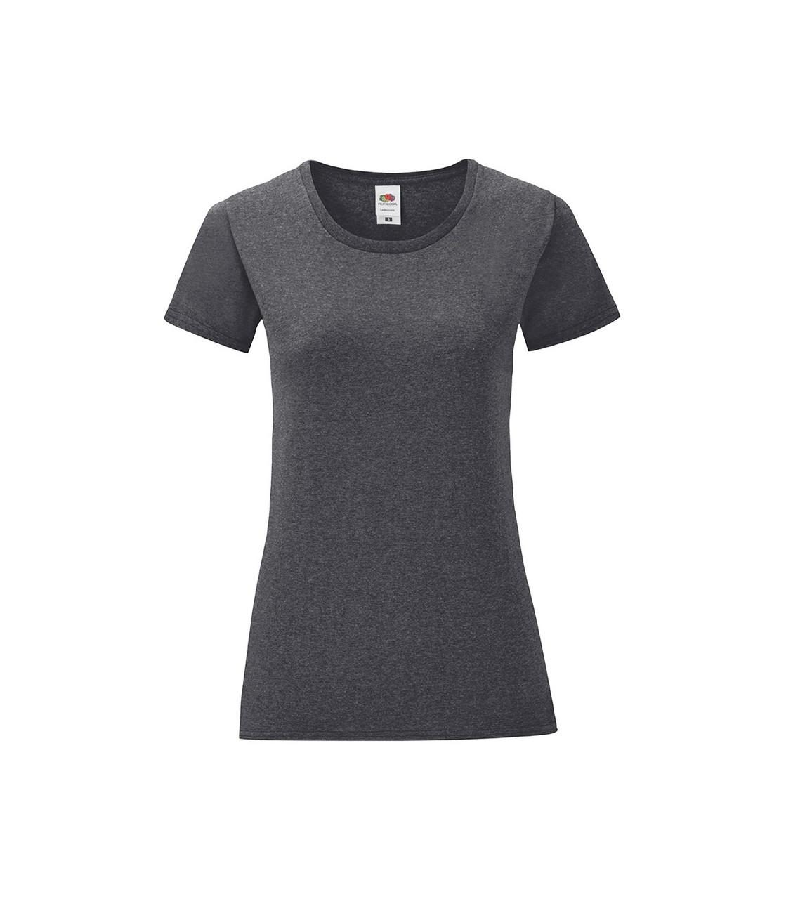 Женская футболка хлопок темно серая меланж 432-HD