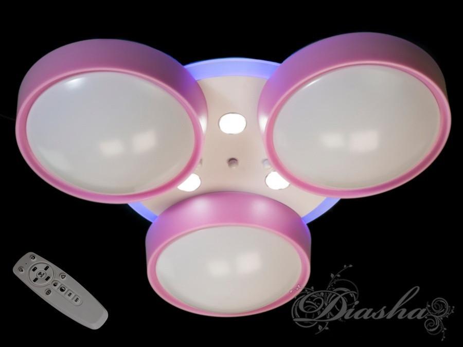 Дитяча люстра з рожевими плафонами B001PK dimmer