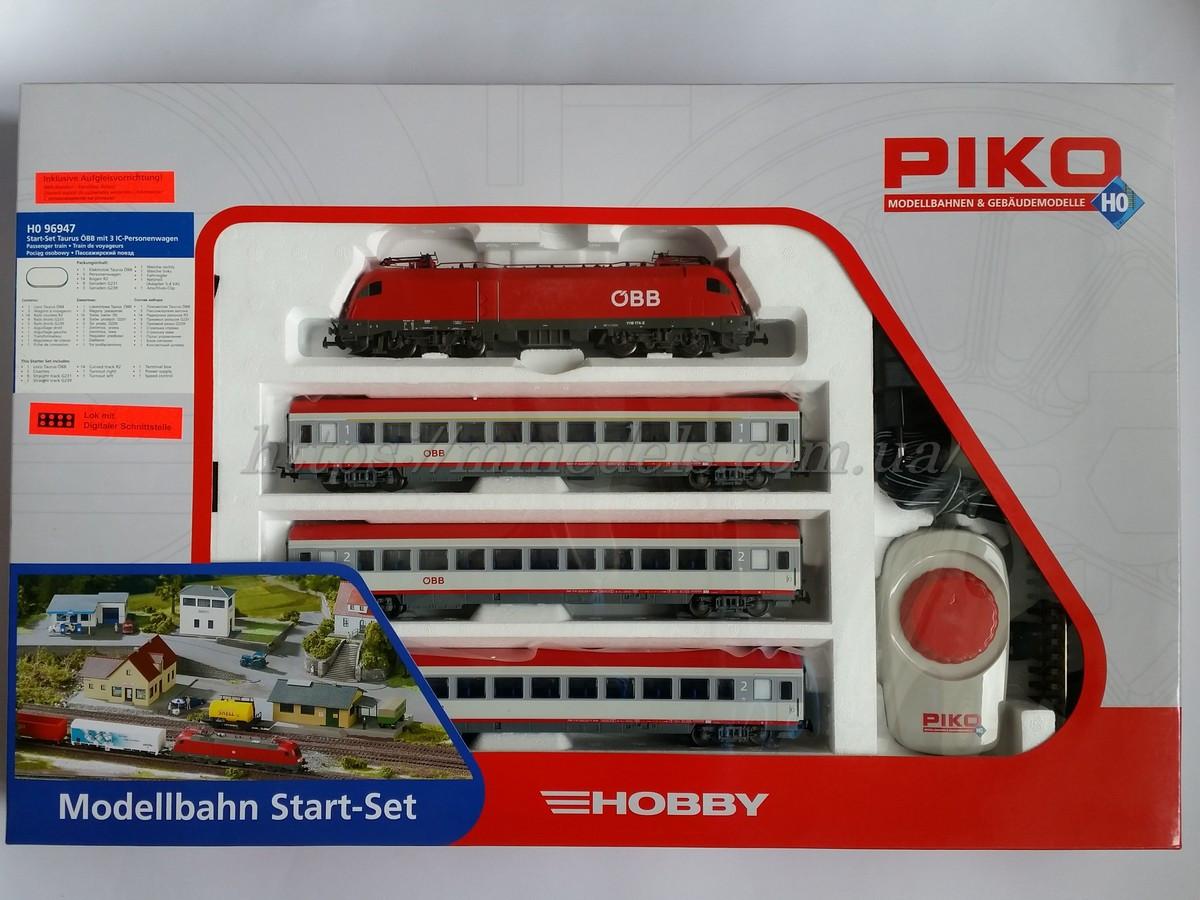 PIKO 96947 Детская Железная дорога Стартовый набор Пассажирский поезд, масштаб 1/87, H0
