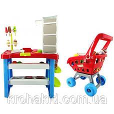 """Детский игровой набор """"Мой Магазин"""" Супермаркет 668-22 прилавок, касса, сканер, тележка, продукты - звук, свет, фото 3"""
