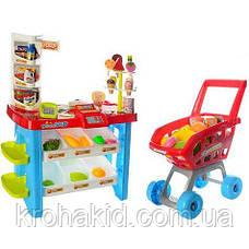 """Детский игровой набор """"Мой Магазин"""" Супермаркет 668-22 прилавок, касса, сканер, тележка, продукты - звук, свет, фото 2"""