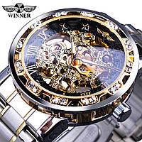 Механические часы Winner Diamonds - гарантия 12 месяцев
