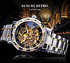 Механічний годинник Winner Skeleton, чоловічий механічний годинник, срібний годинник Віннер скелетон, фото 8