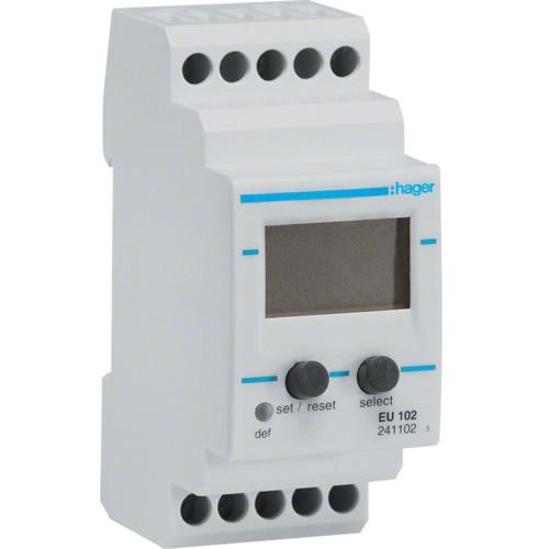 Реле контроля напряжения, 1-фазное с вольтметром Hager EU102